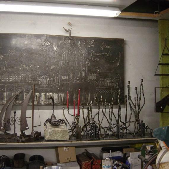création artistique métal paca artisanal ferronnerie Nice 06 Alpes-Maritimes décoration