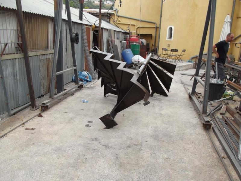 création Alpes-Maritimes ferronnerie hélicoïdale métal Nice 06 artisanal paca Escalier