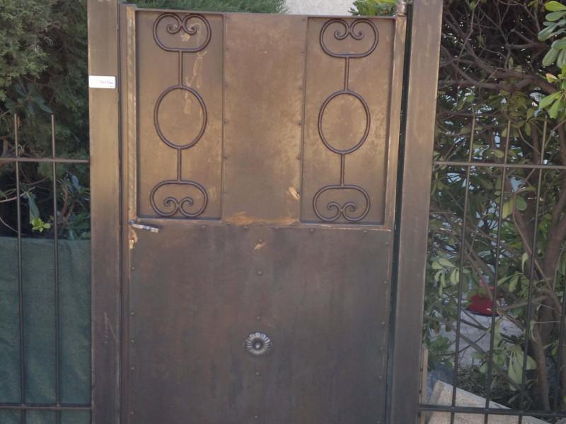 Portillon ferronnerie Alpes-Maritimes création artisanal Nice metal 06 paca