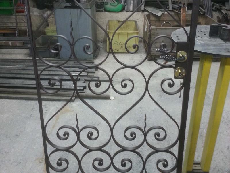 Portillon artisanal Nice 06 paca Alpes-Maritimes ferronnerie metal création