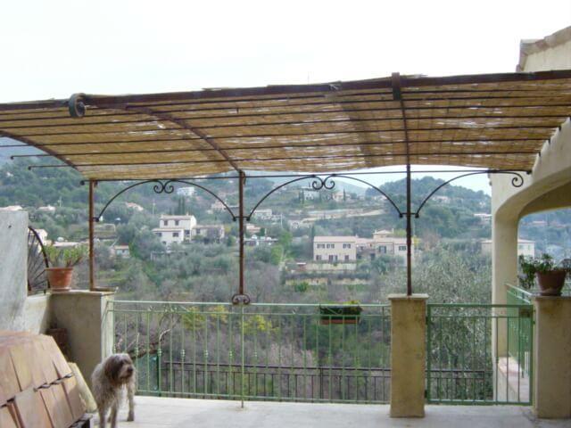 Nice création artisanal Alpes-Maritimes 06 ferronnerie métal paca Pergola